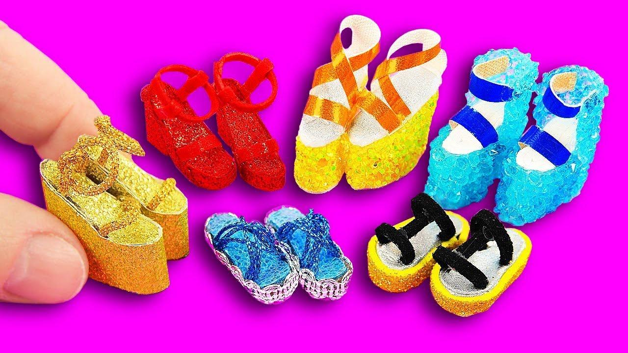 Spiksplinternieuw 10 DIY Barbie Shoes & Boots & Sandals ~ Como hacer ZAPATOS para TQ-41