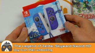 [The Legend of Zelda: Skyward Sword HD Joy-Con pair] Unboxing and comparison