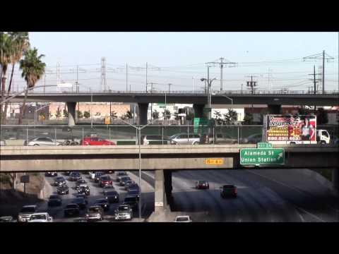 Santa Ana Freeway Exit 2A in Los Angeles 03/May/2014 サンタ・アナ・フリーウェイ、ロサンゼルス #3