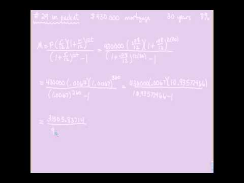 Financial Algebra - Monthly Payment Formula