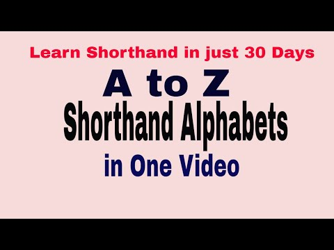 Shorthand Alphabets || Gregg Shorthand || Complete list of