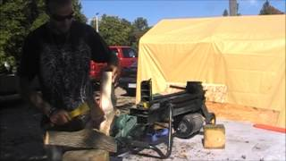 Yardworks 4 ton log splitter update