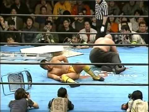 Tomoaki Honma vs Abdullah Kobayashi Barbed Wire Board Ladder Match   BJW 22 02 2000 HIGHLIGHTS