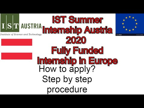 IST Summer Internship Austria 2020 Fully Funded Internship in Europe