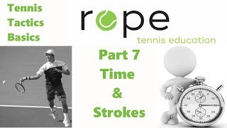 Tennis Tactics Basics - Part 7 - Time & Strokes