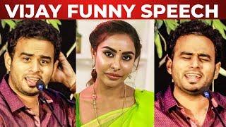 """""""Sri Reddy kooda nadika mudilanu varutham irundhalum.."""" – Mirchi Vijay Funny speech"""