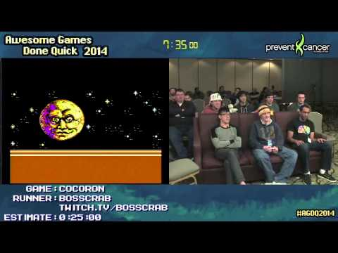 "Cocoron [NES] :: SPEED RUN by Bosscrab (0:17:06) #AGDQ 2014 ""WTF Japan"""
