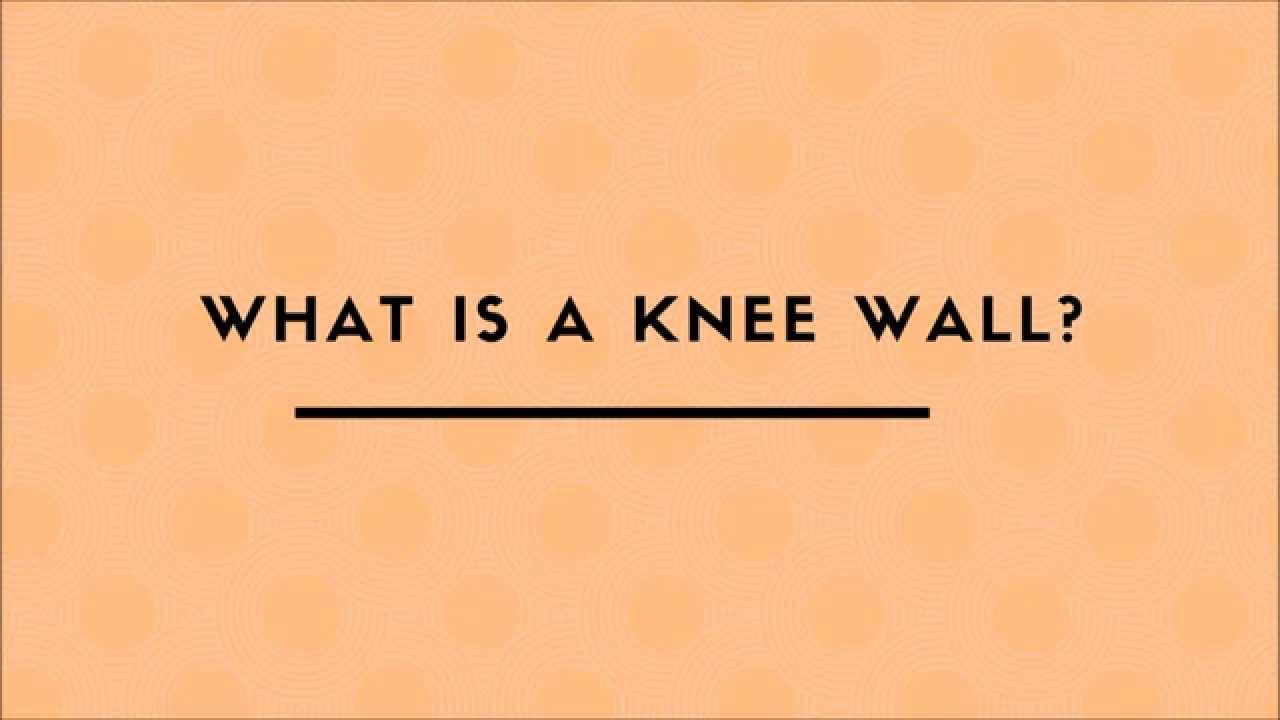 What is a knee wall youtube for Knee wall support