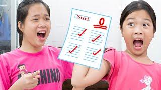 Nói Dối Chị Giấu bài kiểm tra ❤ Khi Làm Sai Biết Nhận Lỗi - Trang Vlog