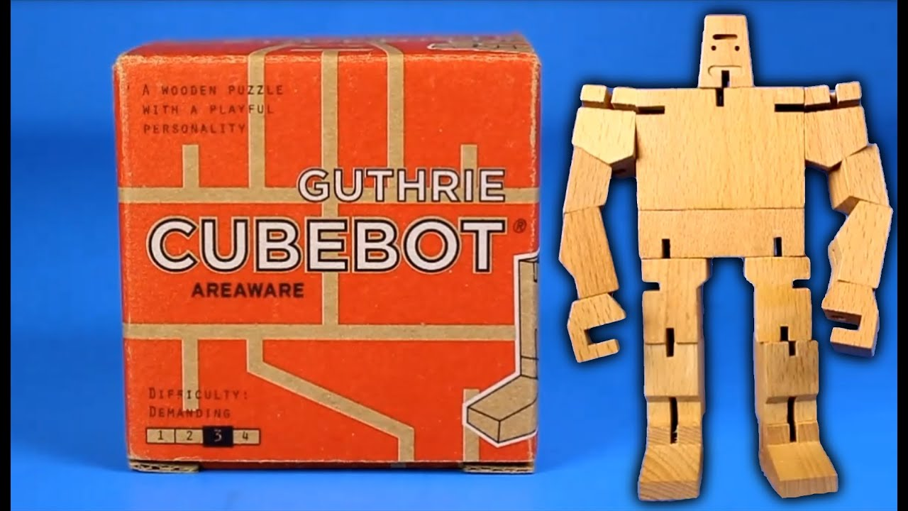 Guthrie Cubebot By Areaware Transforming Wooden Robot Puzzle Toy