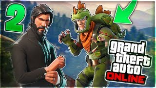 DO 2 NEW FORTNITE SKINS on GTA 5 ONLINE in 1.42!!