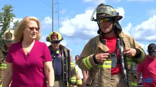 Sen Theis joins Macomb Township firefighter in walk against cancer