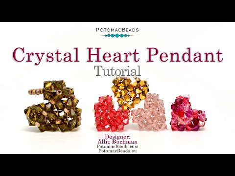 Make a Crystal Heart Pendant- DIY Jewelry Making Tutorial by PotomacBeads