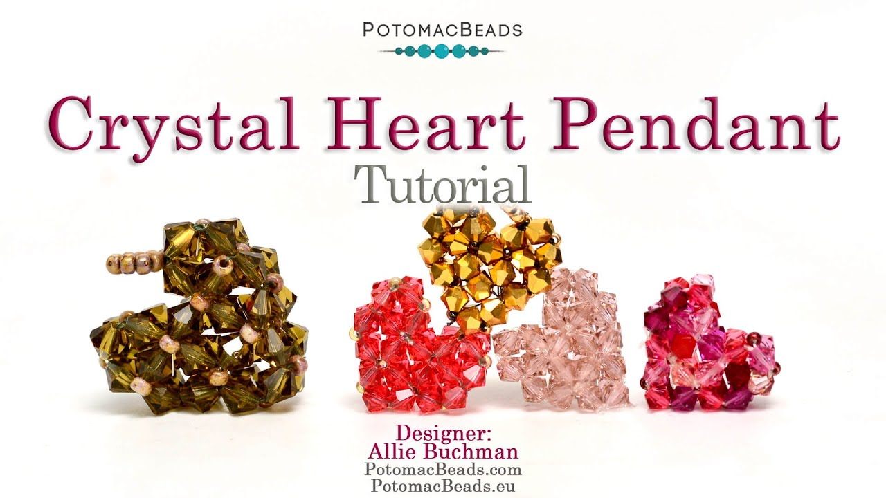 Make a crystal heart pendant youtube make a crystal heart pendant potomac bead company aloadofball Image collections