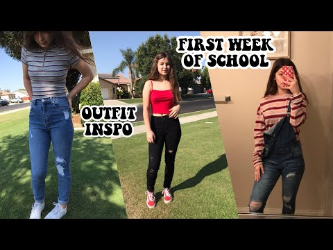 FIRST WEEK OF SCHOOL OUTFIT INSPO 2018 / OOTW , YouTube