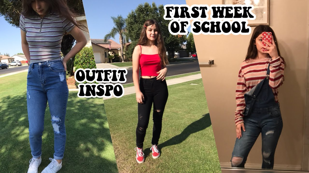 FIRST WEEK OF SCHOOL OUTFIT INSPO 2018 / OOTW