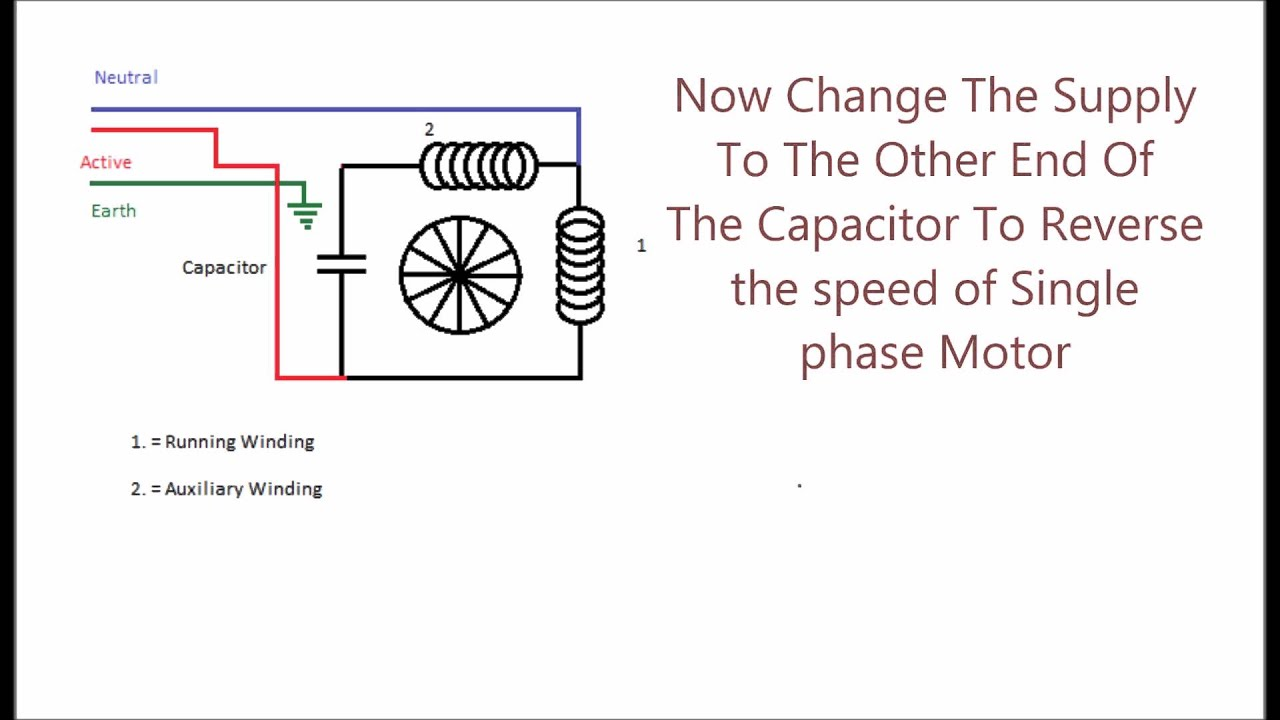 medium resolution of permanent split phase capacitor motor youtube