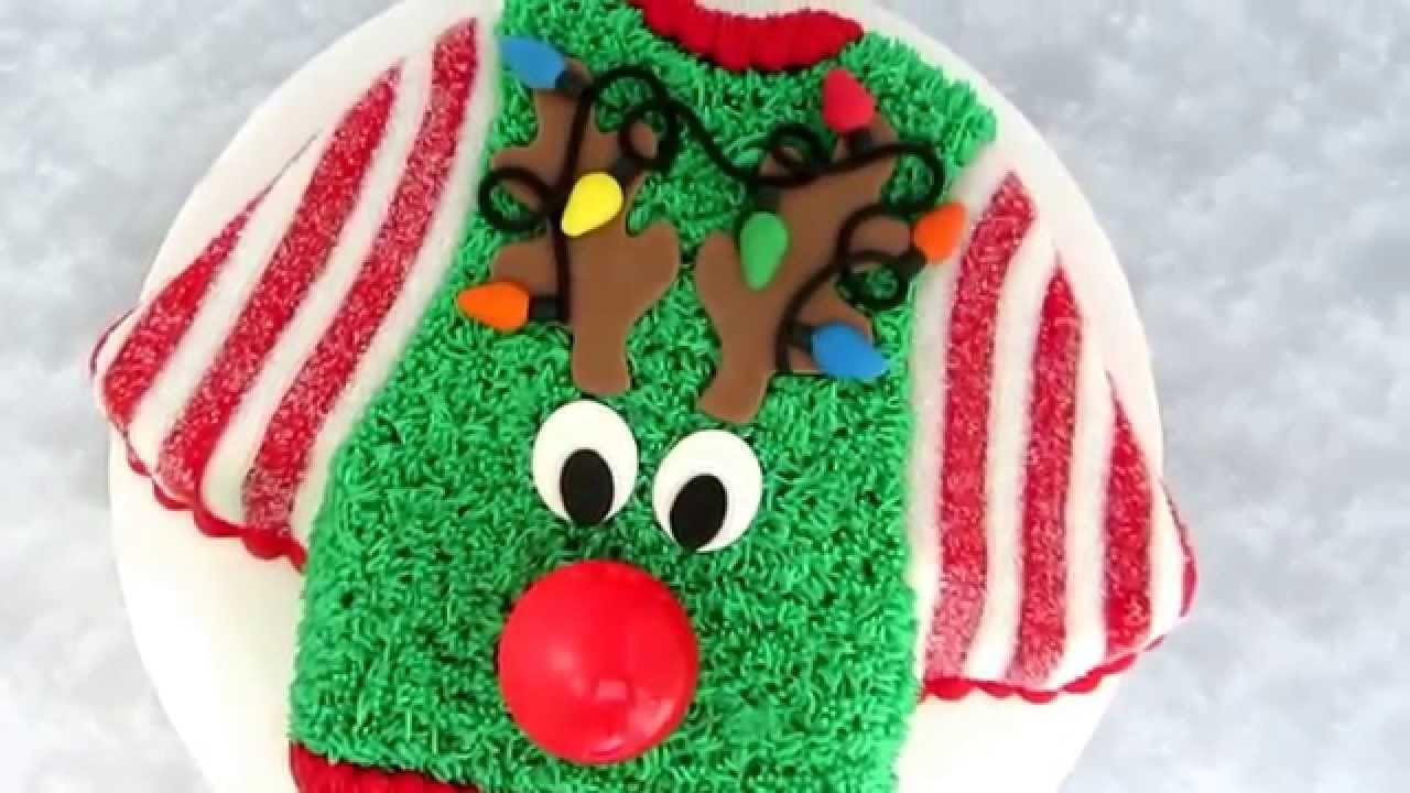 Ugly Christmas Sweater Cake - YouTube