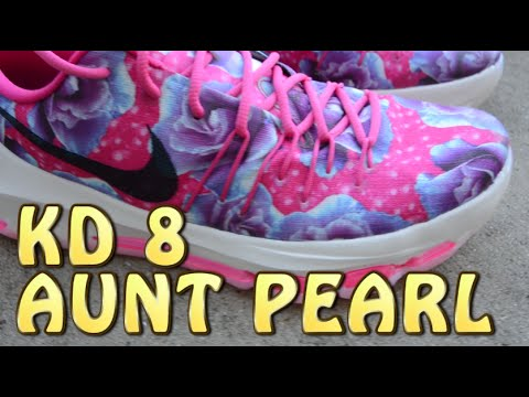 best sneakers f9b95 3b0a3 KD 8 Aunt Pearl Review with ON FEET