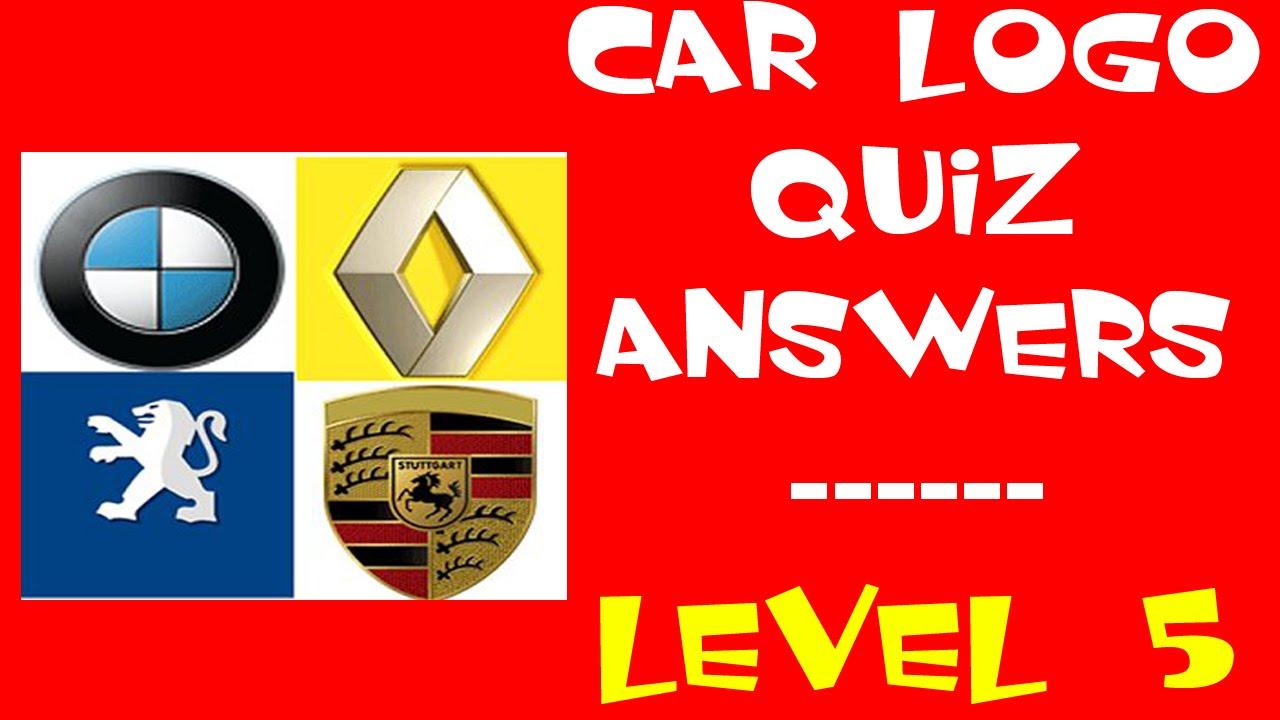 Car Logo Quiz Level 5 Walkthrough All Answers Youtube