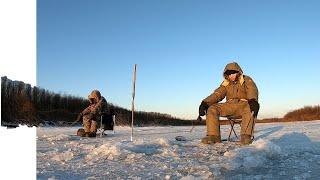 Зимняя рыбалка на реке Тунгуска Рыбалка на щуку зимой
