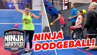 We Play NINJA DODGEBALL! [Beckstrand Family Ninjas] | American Ninja Warrior Junior | Universal Kids