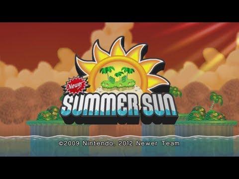 Newer Super Mario Bros. Wii - Summer Sun Complete Walkthrough (100%)