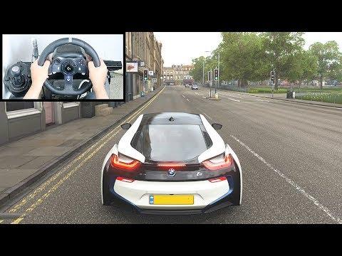 Forza Horizon 4 BMW I8 (Steering Wheel + Paddle Shifter) Gameplay