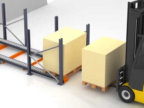 Mecalux Uk.Dynamic Pallet Levels With Conveying Rollers Mecalux Uk