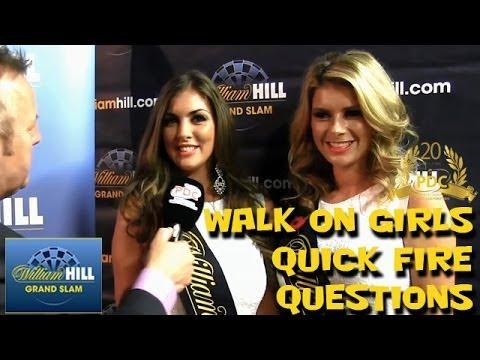 Darts Walk-on girls Daniella Allfree and Sammi Marsh Quick Fire Questions