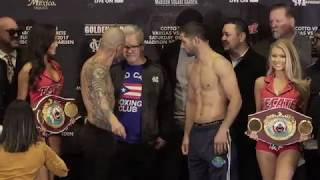 Miguel Cotto vs Sadam Ali weigh-in (Video: Golden Boy Promotions)