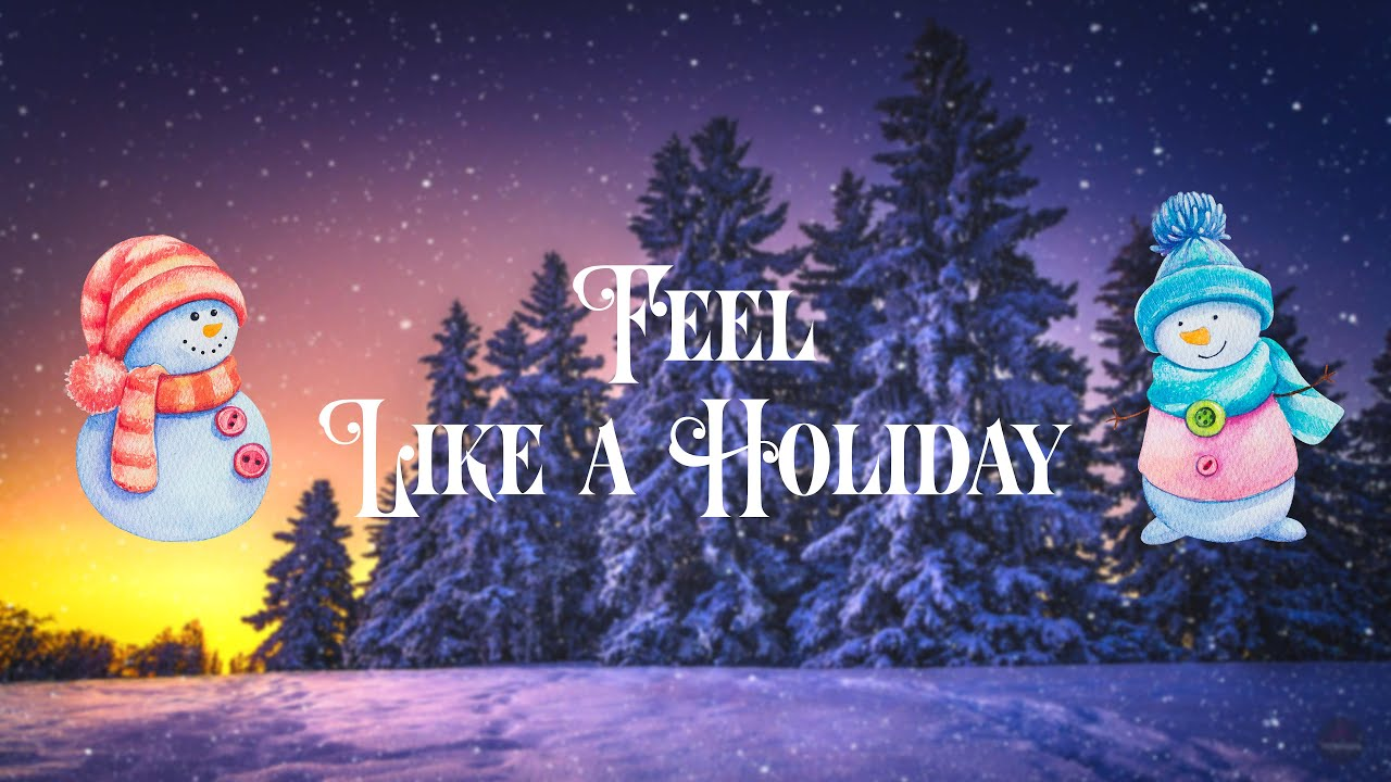 Winter Ambience. Christmas ambient video with music. Relaxing, warm holiday music.