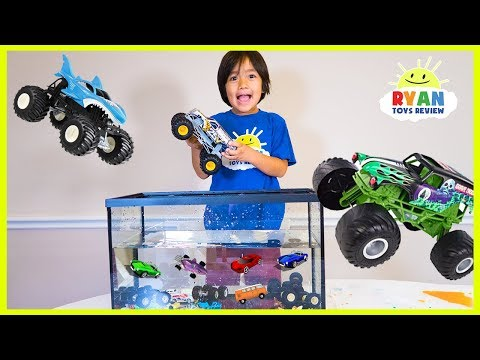 Download Youtube: Ryan Truck Car Wash with learning colors and number counting