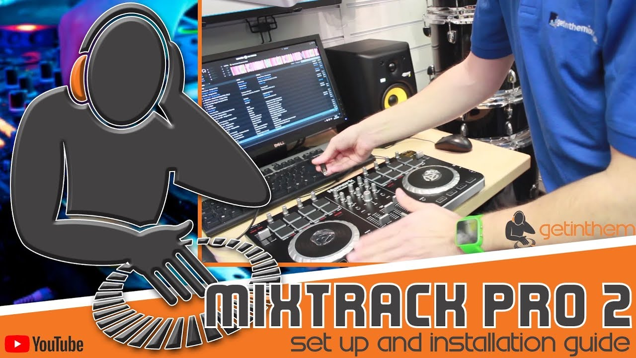 how to set up connect the numark mixtrack pro 2 [ 1280 x 720 Pixel ]