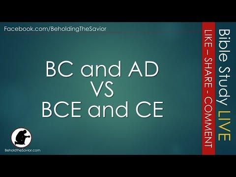 BC & AD vs BCE & CE - Bible Study LIVE