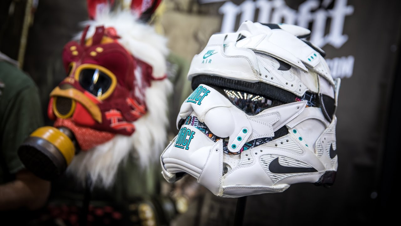 Sculpting Gas Masks and Helmets from Sneakers! - YouTube eaca850fd