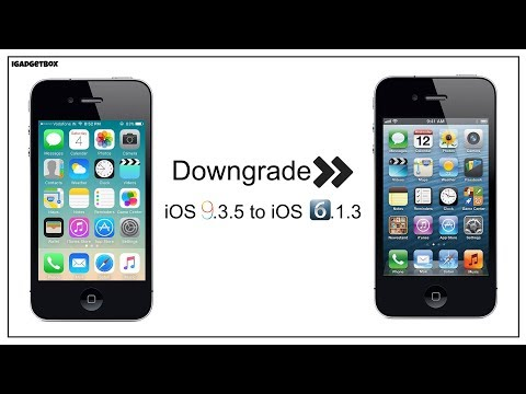 Downgrade iOS 9 3 5 to iOS 6 1 3 Only 32Bit Devices Supported