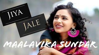 Jiya Jale/ Nenjinile Nenjinile (Cover) Maalavika Sundar -  | Uyire/ Dil Se | A.R.Rahman |