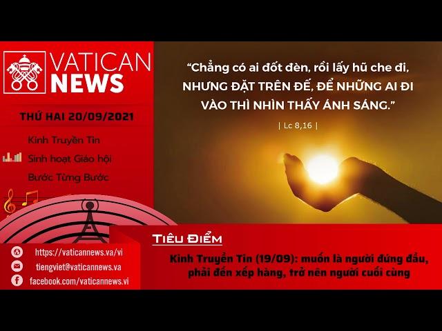 Radio thứ Hai 20/09/2021 - Vatican News Tiếng Việt
