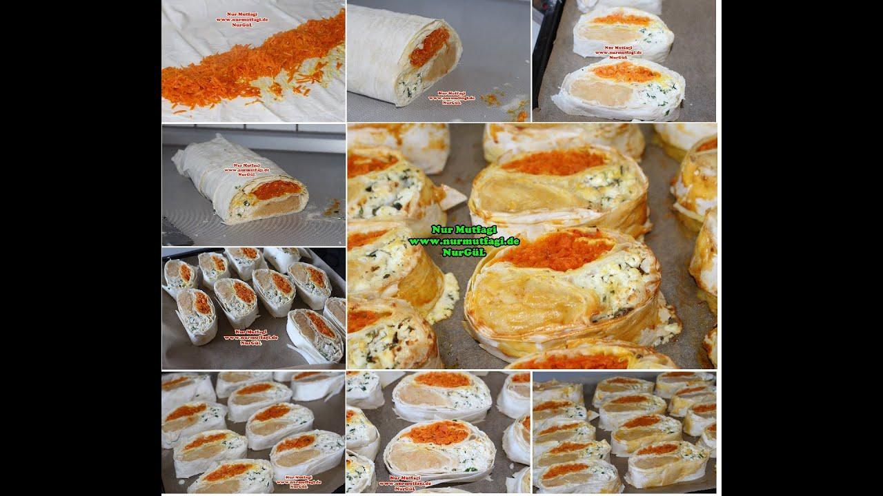 Yufkadan Sarmalı Kıymalı Börek