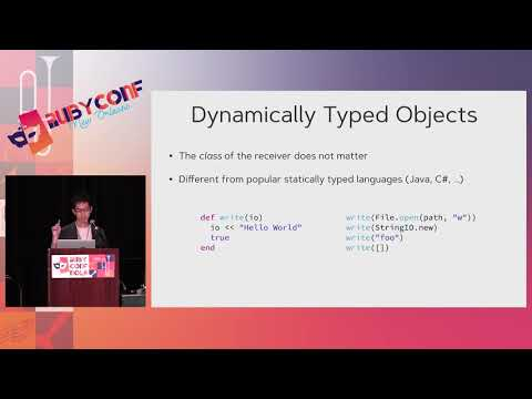 RubyConf 2017: Types and Ruby Programming Language by Soutaro Matsumoto