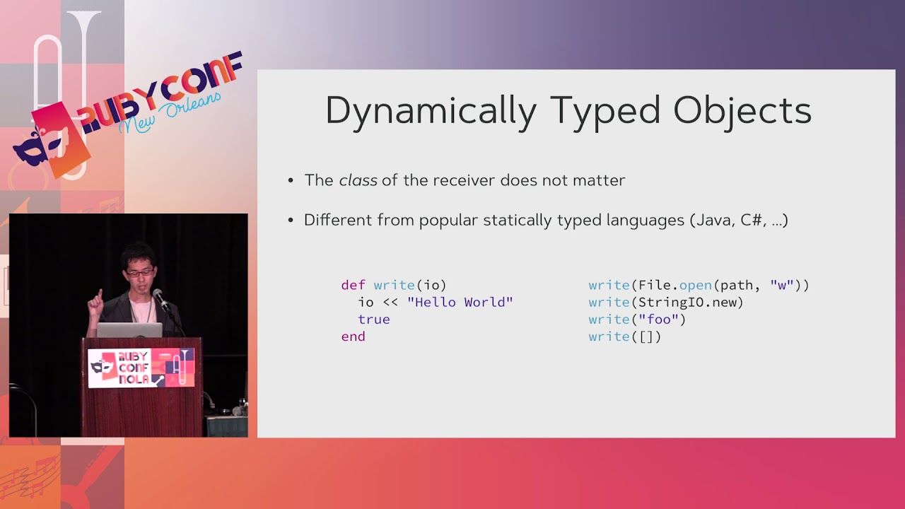RubyConf Types And Ruby Programming Language By Soutaro - Types of languages in the world