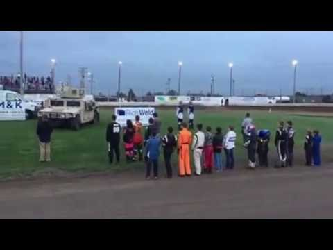 KAM Raceway National Anthem RichWeld Fabrication and Military Appreciation night