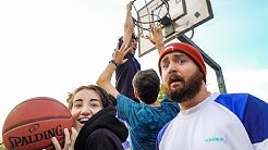 MEINE SCHWESTER vs BUNDESLIGA Basketball Spieler (fast beklaut?!)