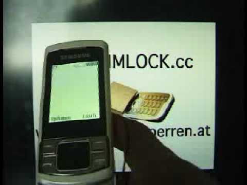 HOW UNLOCK SAMSUNG C3050 www.SIM-UNLOCK.me BY UNLOCK CODE HANDY ENTSPERREN Freischalten