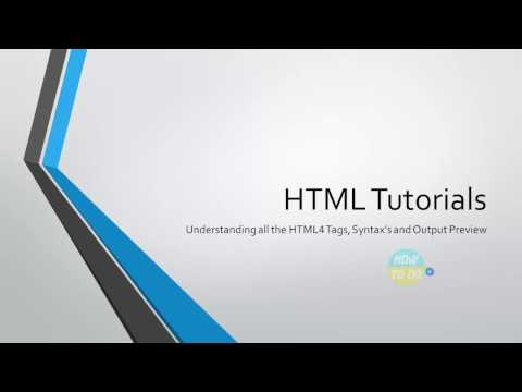 Learn Complete and All HTML tags in 25min