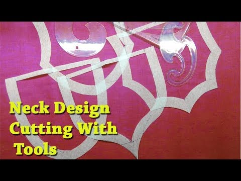 Neck design cutting in canvas using tools DIY tutorial for beginners easy method