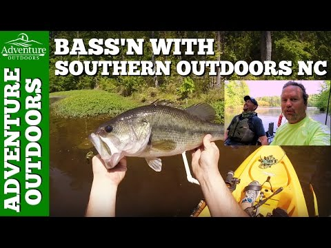 Kayak Fishing ~ Bass Fishing Randleman Lake Greensboro NC With Southern Outdoors NC