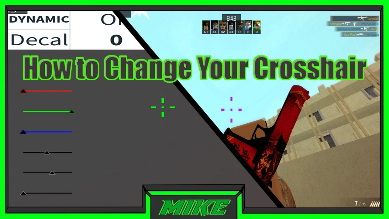 Roblox Counter Blox How To Change Your Crosshair How To Change