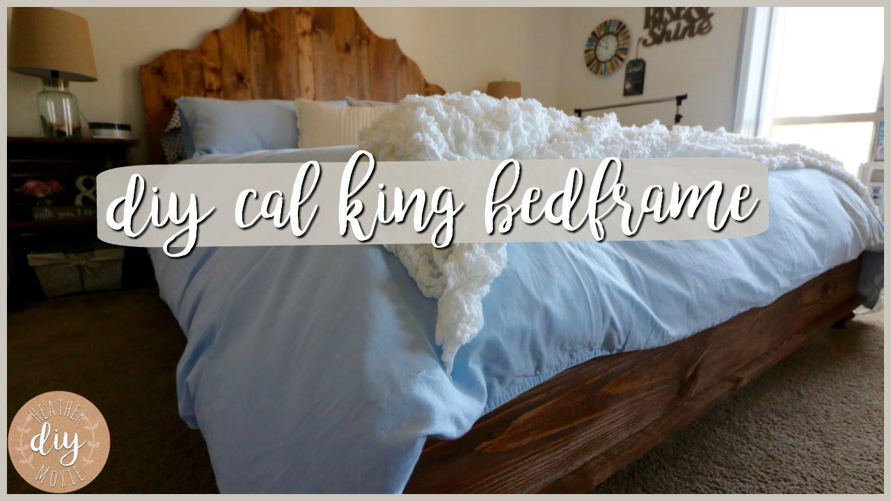 DIY Bedroom FurnitureCalifornia King Bedframe - YouTube
